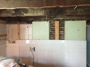 "Partially gutted kitchen - if you're saying ""I need to sell my Massachusetts house fast"" contact us now!"