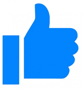 Thumbs up - like and leave us testimonials of your experience with our we buy houses company