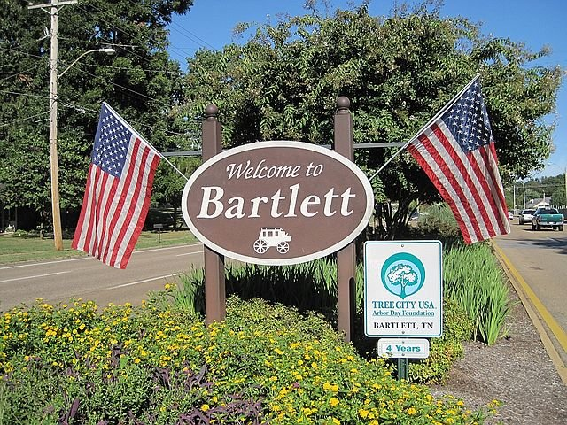 an image of the welcome to Bartlett sign - on our sell your house fast in Bartlett page