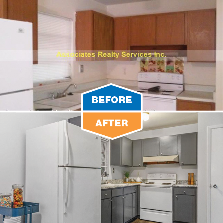 before and after renovation kitchen