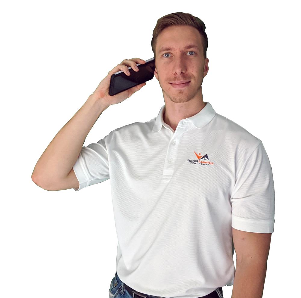 Viktor Jiracek calling someone on the phone