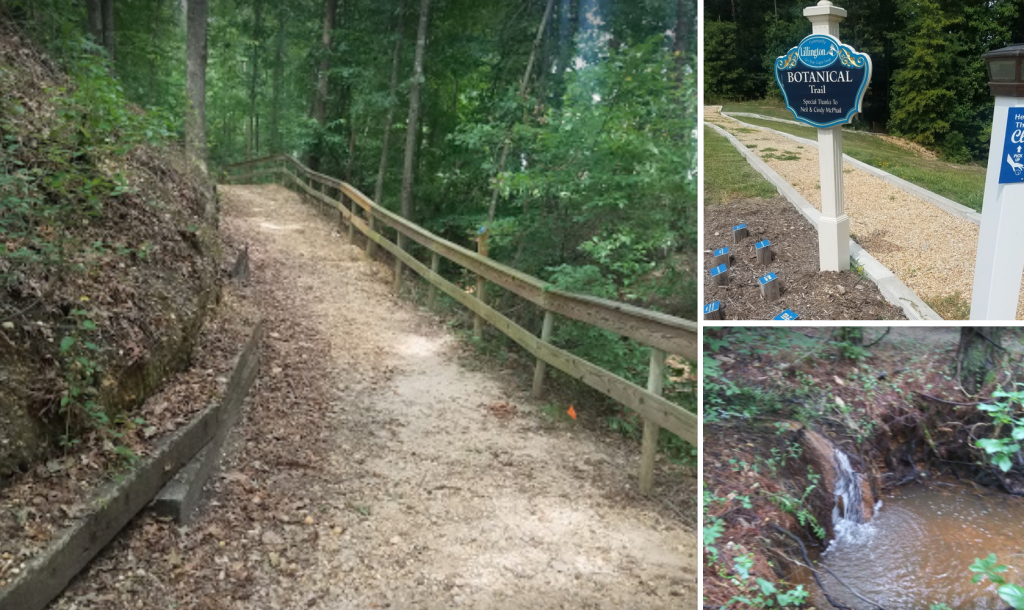 Lillington botanical trail, things to do in Lillington, NC, walking trail