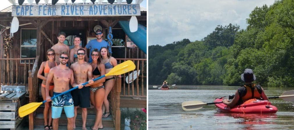 cape fear river adventures, cape fear kayaking, 10 things to do in Lillington nc