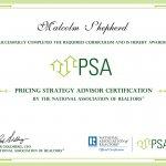 Pricing Strategy Advisor (PSA) Certification Malcolm Shepherd