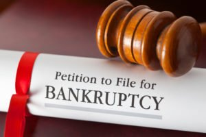 Example of a file for bankruptcy and foreclosure