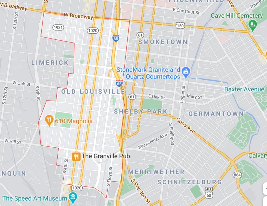 Old Louisville Neighborhood Map