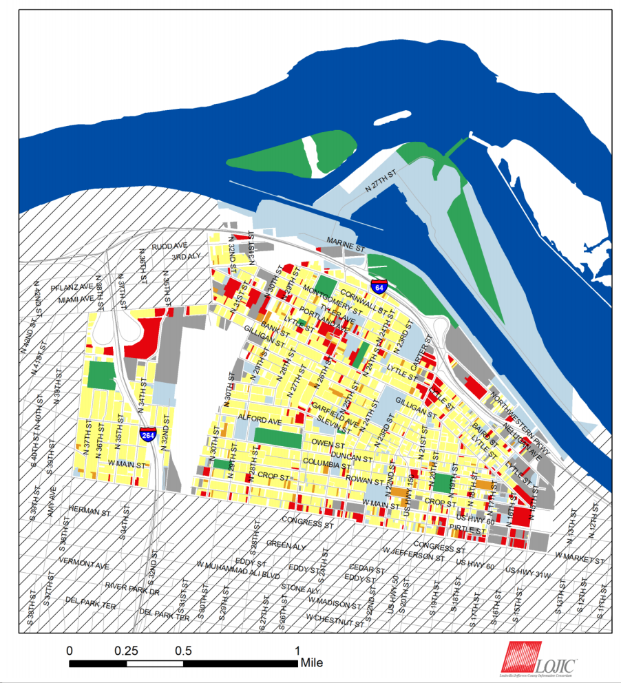 Portland Neighborhood Louisville, KY Land Use