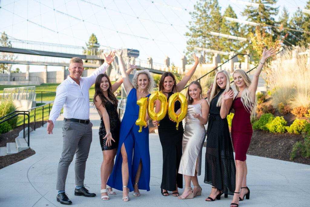 celebration, real estate, team, realtors, spokane, washington, 100,