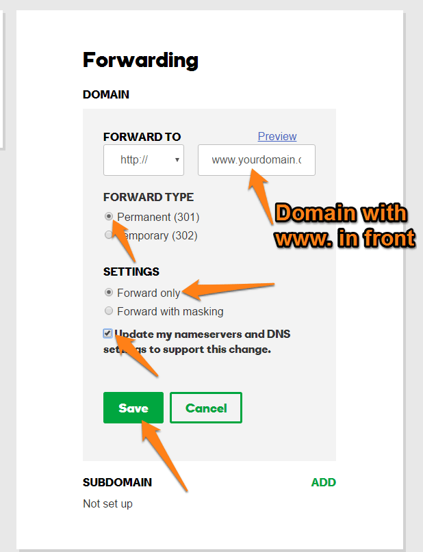 Godaddy Domain Setup - Carrot Help Center
