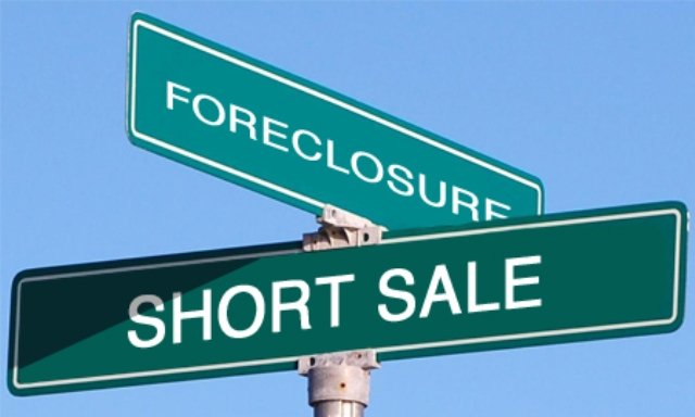 Short Sale & Foreclosure Street Sign