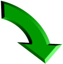 a green curve arrow pointing downwards