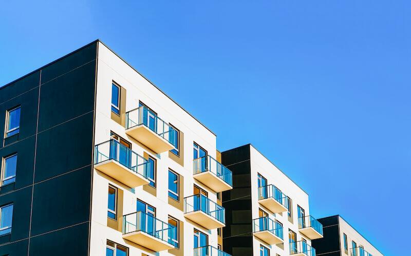 View of a modern condominium in Kansas City