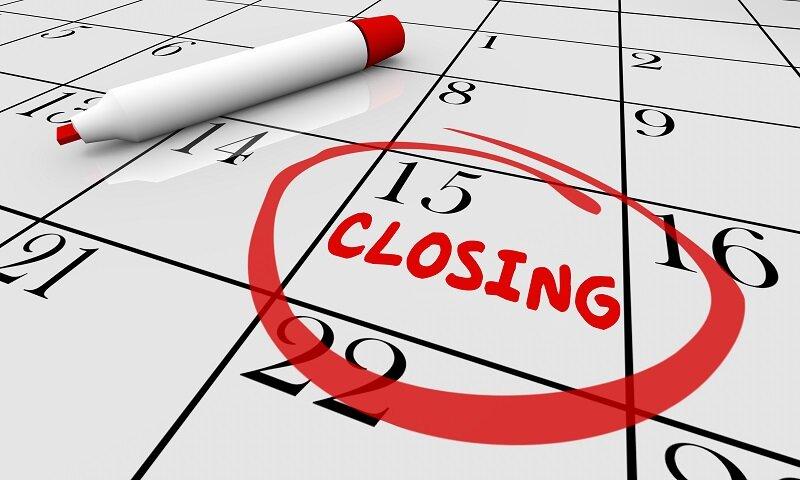 Closing Date of real estate listings
