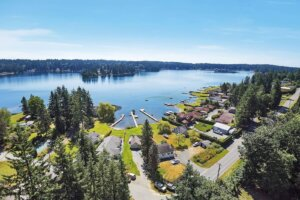 Drone Photography- Arial view of Lake Goodwin in Stanwood, WA