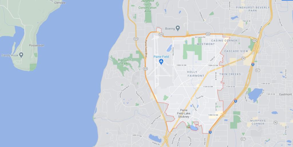 Everett Wa 98204 map