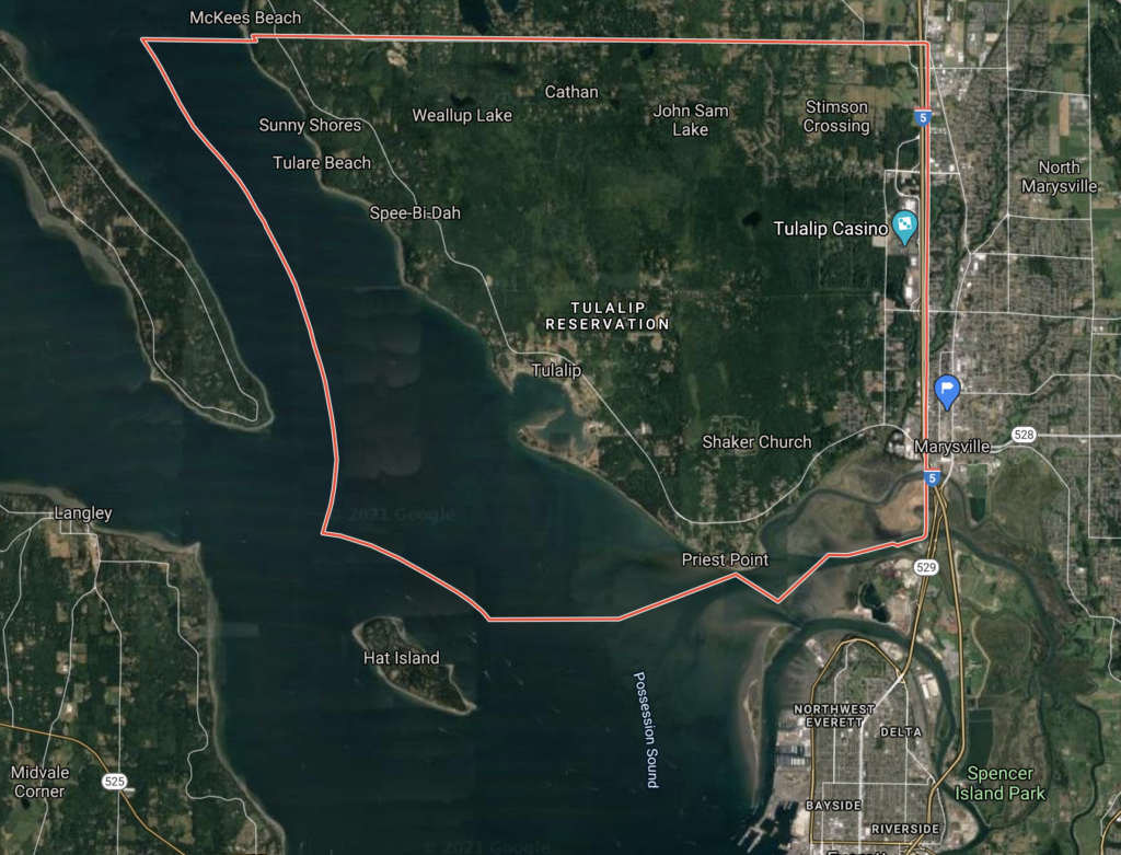 Tulalip Reservation map