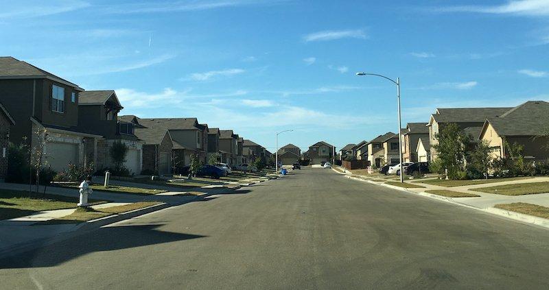 a street full of houses in Houston Texas