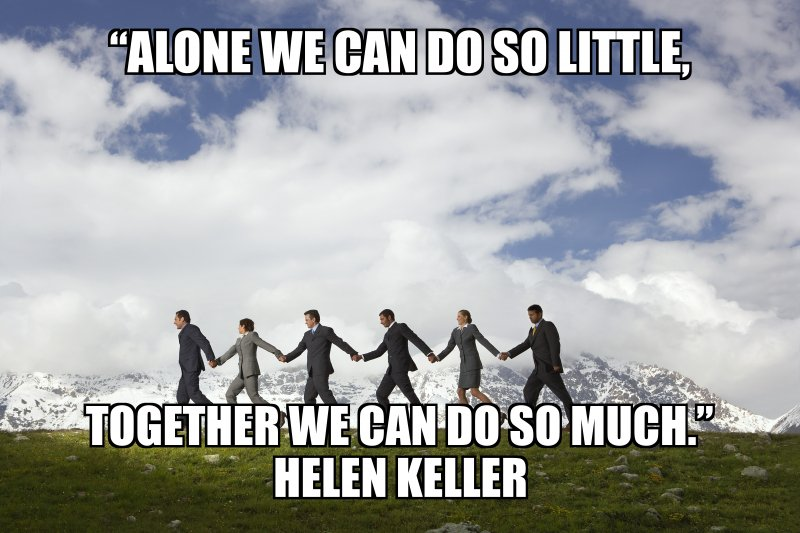 Alone we can so little togeher we can accomplish anything image