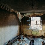 Interior of a Fire Damaged House for Sale in Idaho