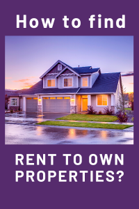 How to find Rent to Own Properties in Tucson?
