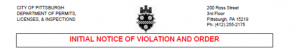Learn how to handle Pittsburgh code violations.