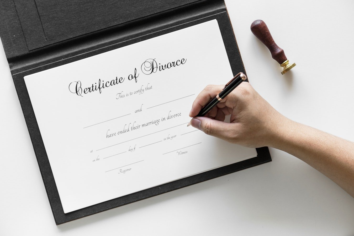 Certificate of divorce - selling a california property