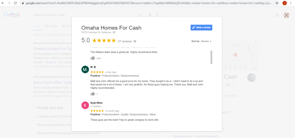 companies that buy houses omaha reviews
