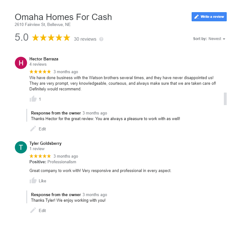 companies that buy houses in omaha reviews