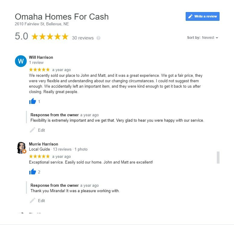 omaha cash home buyer reviews