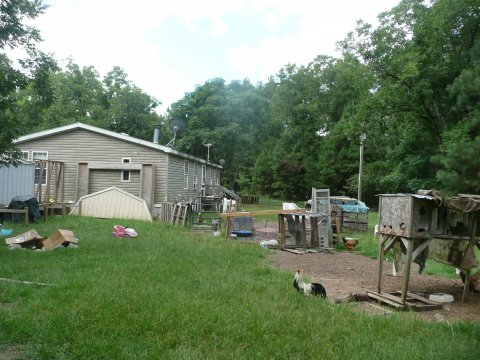 Mobile home for sale in Salley SC with large back yard
