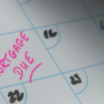 Mortgage due date on calendar