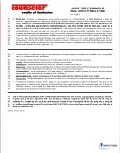 Page Two of Agency Relationships covers Facilitators and Fiduciary Duties