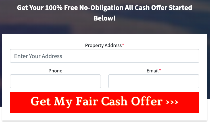 Request Your Free Cash Offer on Your House without making repairs