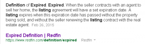 Definition: Asheville Expired Listing