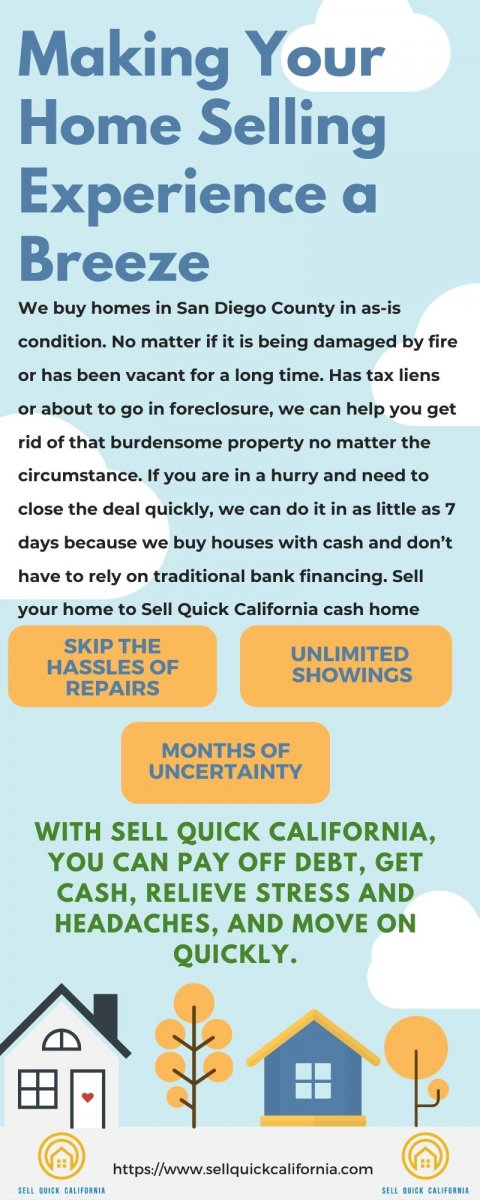 Selling your house fast in San Diego County