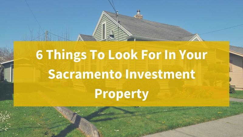 We buy properties in Sacramento California