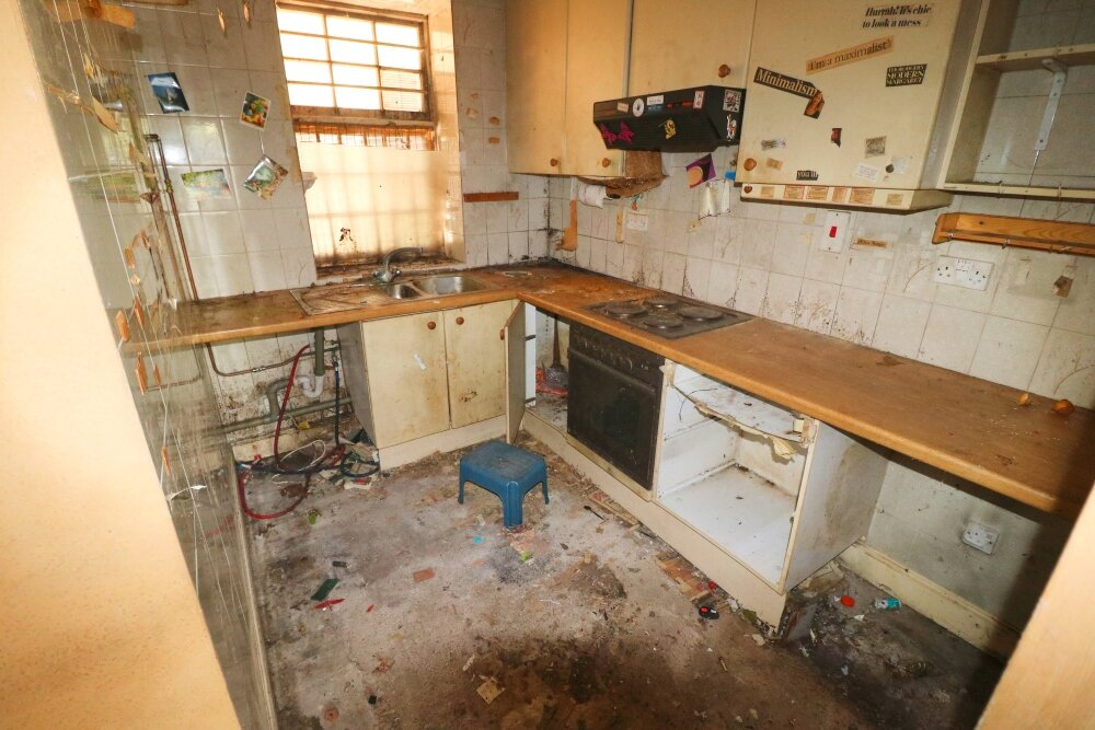 A kitchen in need of repair