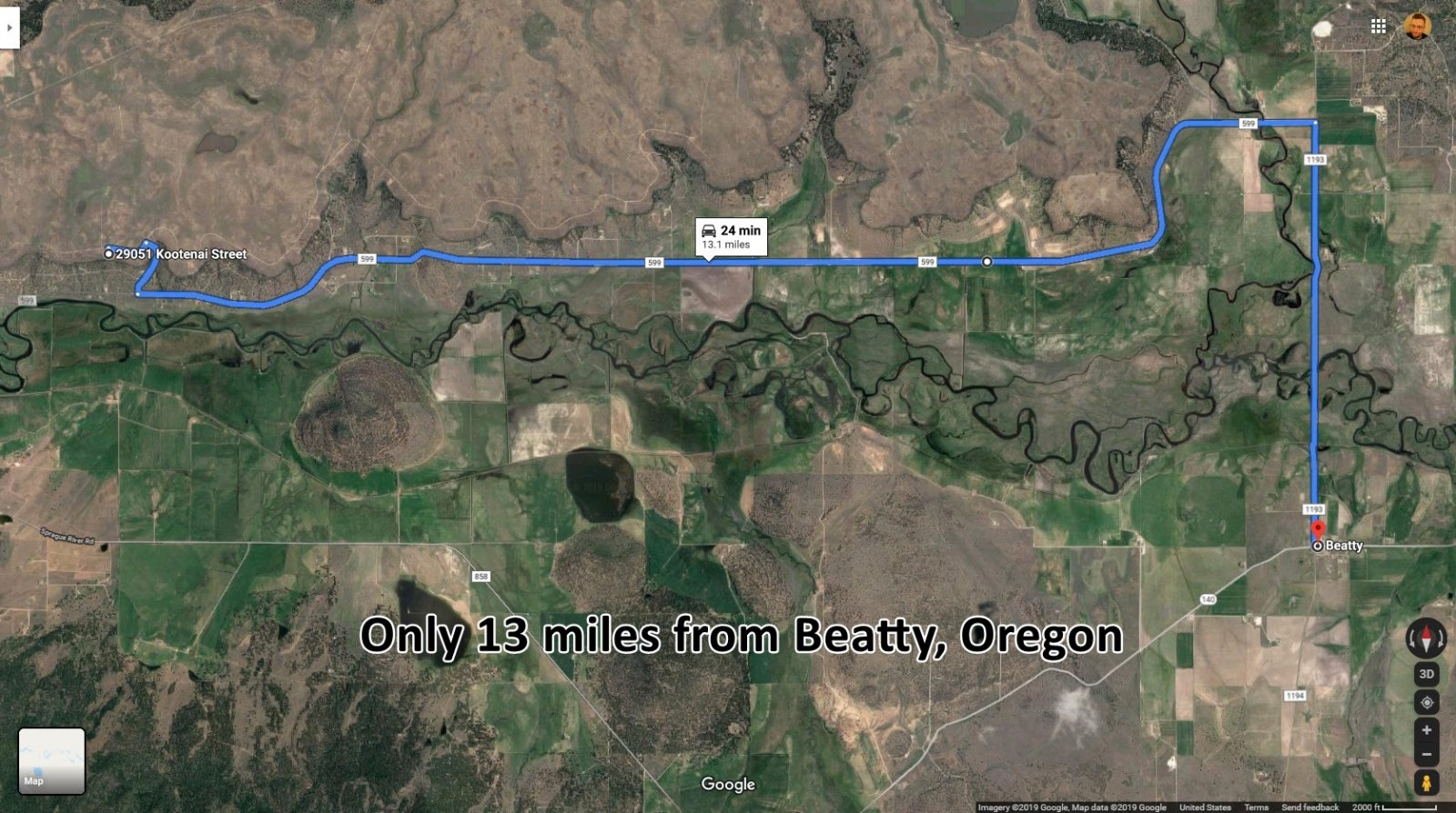1½ Acres of Lovely Land with Amazing Sprague River Views (Chiloquin, Oregon)