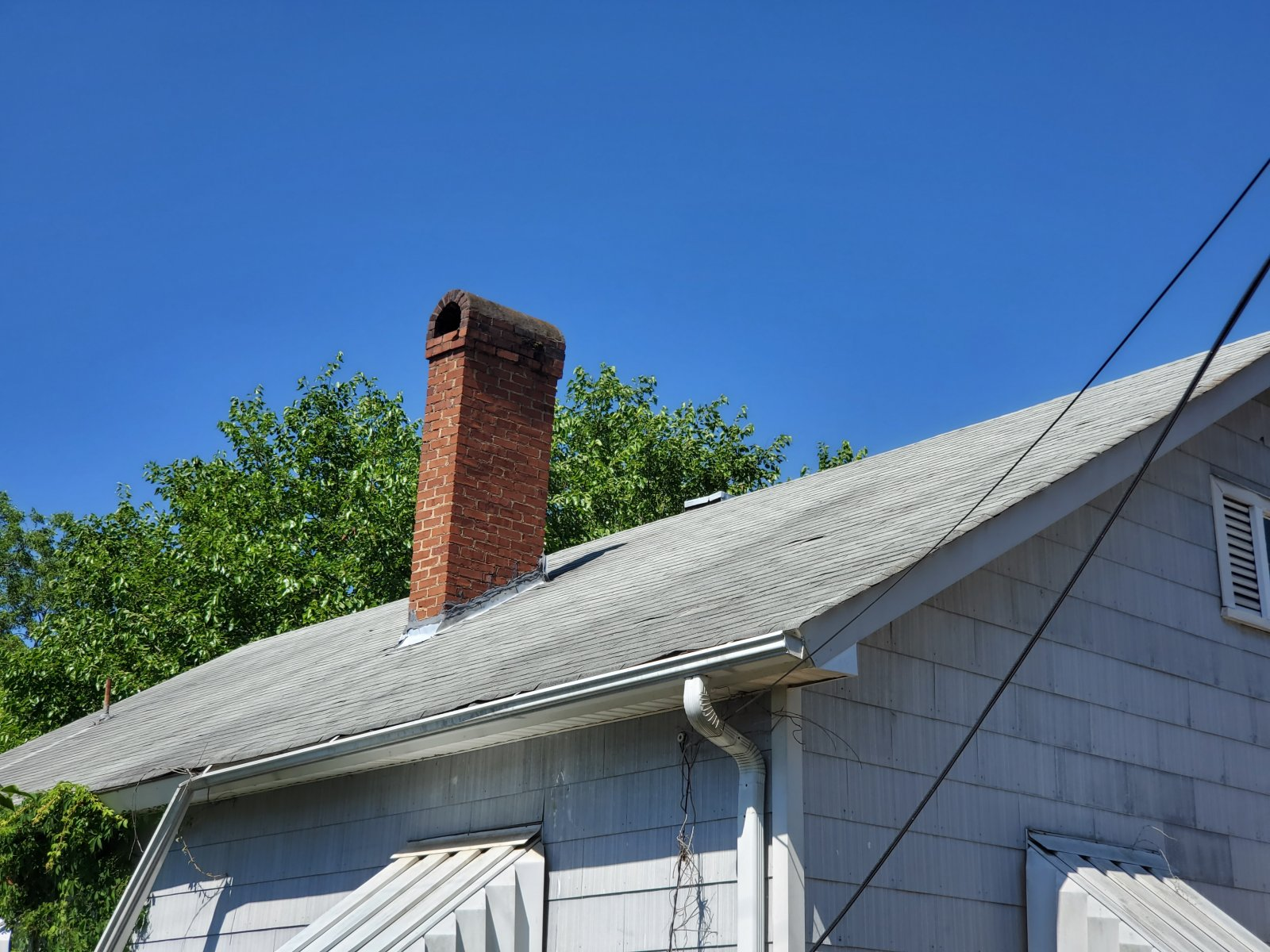 Cheap Rehab Home Roof & Chimney