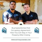 BuyingJaxHomes Post Occupancy Agreement