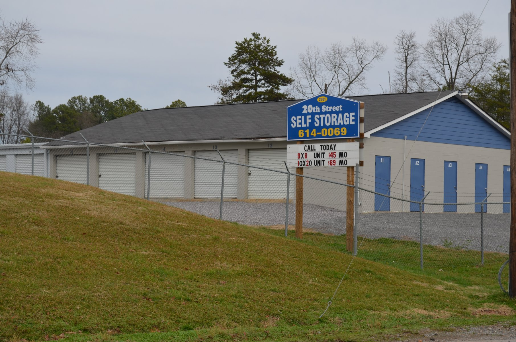 Front of Self Storage Facility