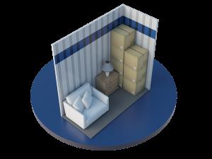 4'x9' Self Storage Unit