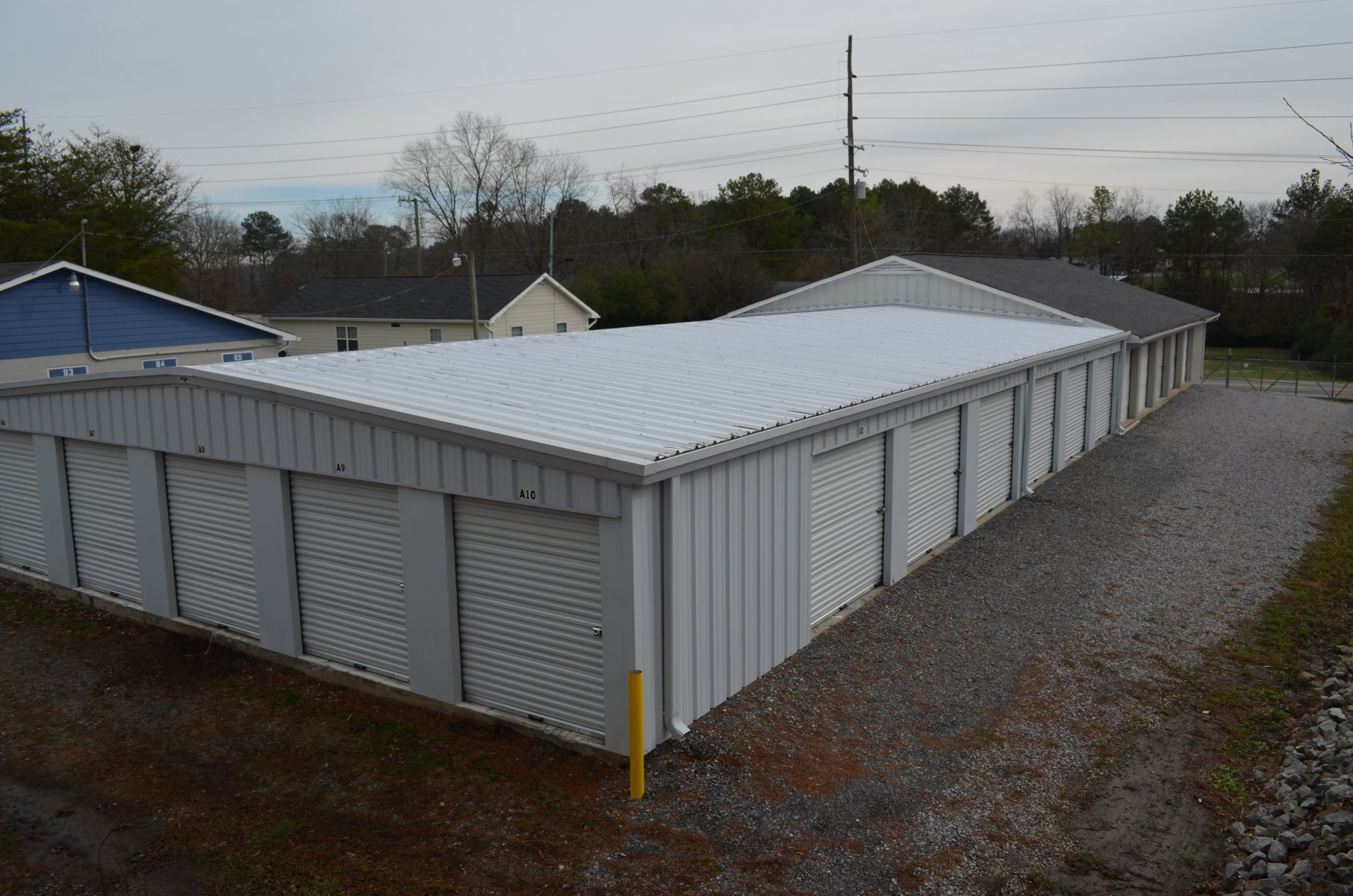 Back of Storage Facility
