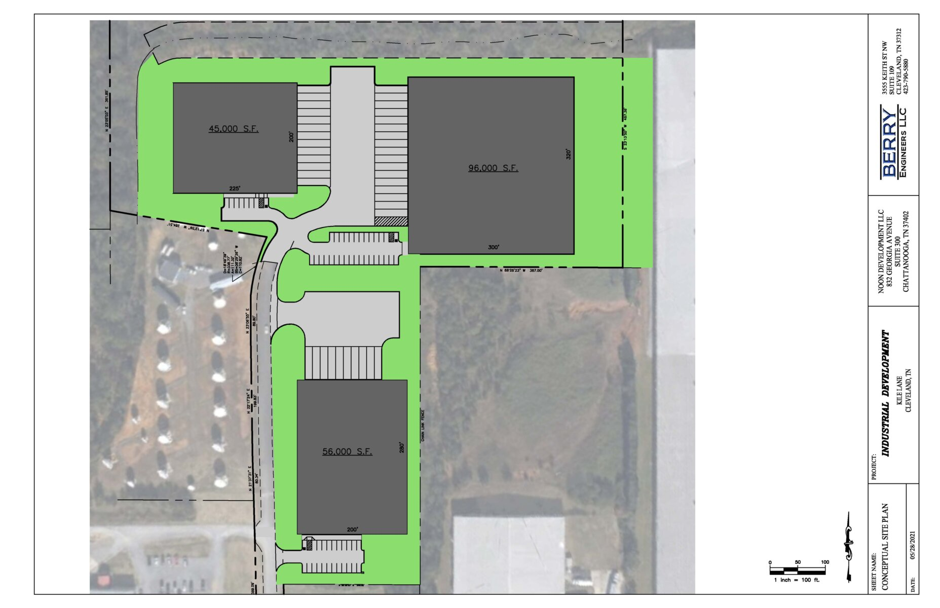 Industrial Warehouse Site Drawing