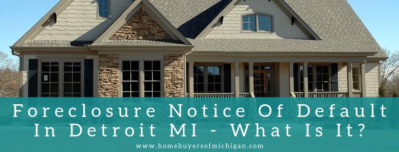 House buyers In Detroit MI