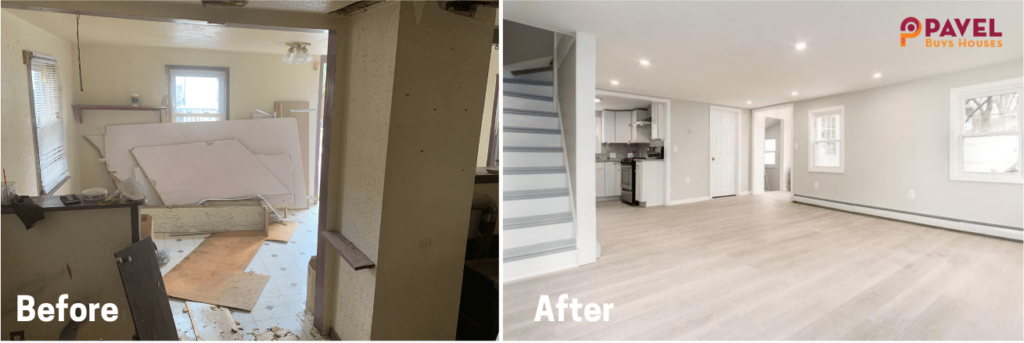 Fix and Flip Before & After in Massachusetts [Project #2]