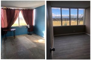 We will buy you home or condo on Maui fast. These are before & after shots of a condo we bought recently in bad shape. We made it beautiful and found a veteran single father living in a studio at the homeless shelter and moved him in!