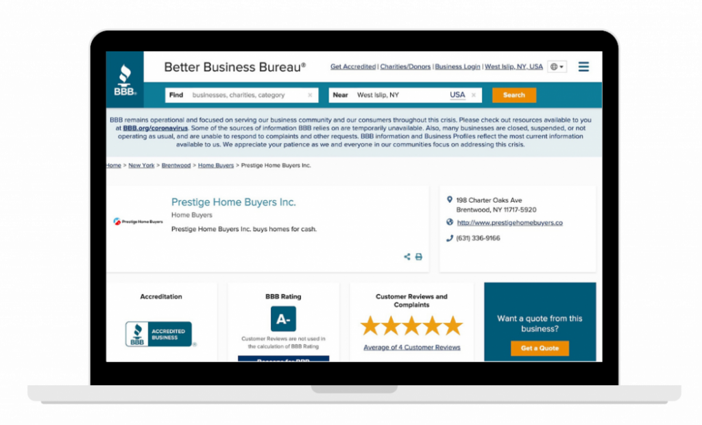 bbb 5 stars cash home buyers