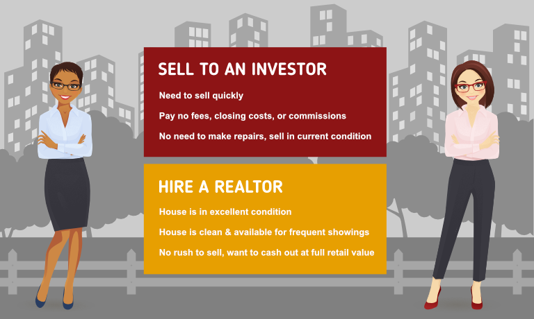 Sell my house to an investor or agent?