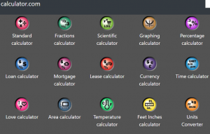 click calculator.com